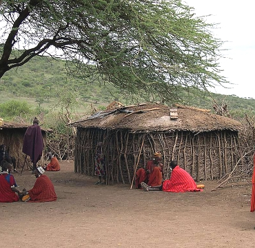 Massai Village in the Ngorongoro Conservation Area